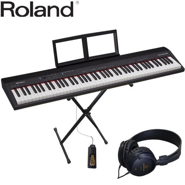 ローランド 88鍵盤 電子キーボード GO PIANO88 X型キーボードスタンド付セット
