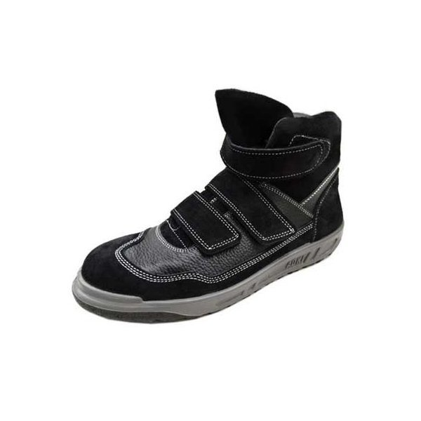 安全靴 ハイカット 安全スニーカー 青木産業 N4900 KARASU 黒 マジック