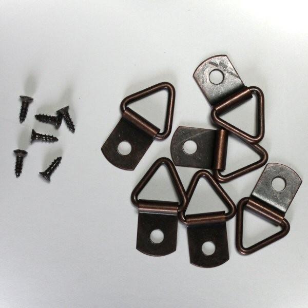 ブラカン(三角吊り金具) ブロンズ色 6個入り