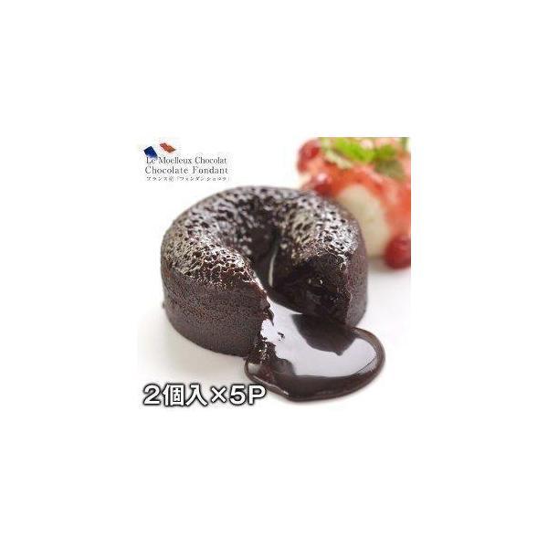 Traiteur de Paris トレトールドパリ社 フォンダン ショコラ 10個セット 100g×2個入り×5パック 賞味期限:冷凍2か月以上  【3〜4営業日以内に出荷】送料無料