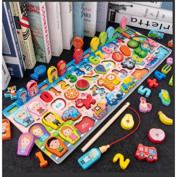 果物フィッシング魚釣り子供知育玩具男1歳交通クリスマスプレゼントおもちゃ2歳誕生日プレゼント数字ゲーム女3歳出産祝い磁石の玩具
