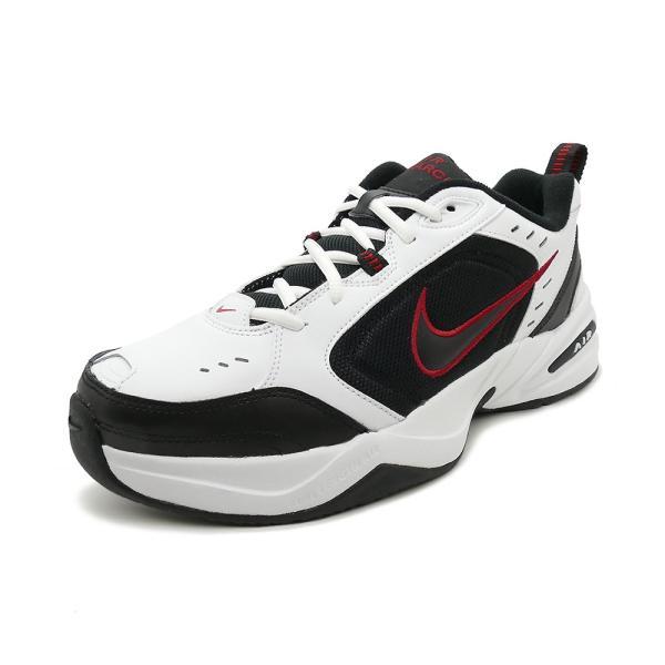 スニーカー ナイキ NIKE エアモナーク4 ホワイト/ブラック/バーシティレッド メンズ レディース シューズ 靴 18HO|mexico