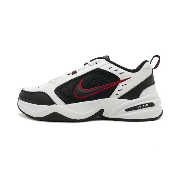 スニーカー ナイキ NIKE エアモナーク4 ホワイト/ブラック/バーシティレッド メンズ レディース シューズ 靴 18HO|mexico|02