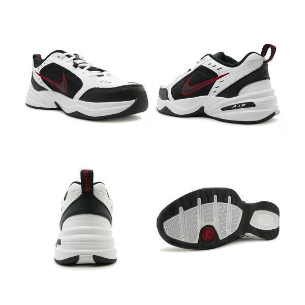 スニーカー ナイキ NIKE エアモナーク4 ホワイト/ブラック/バーシティレッド メンズ レディース シューズ 靴 18HO|mexico|03