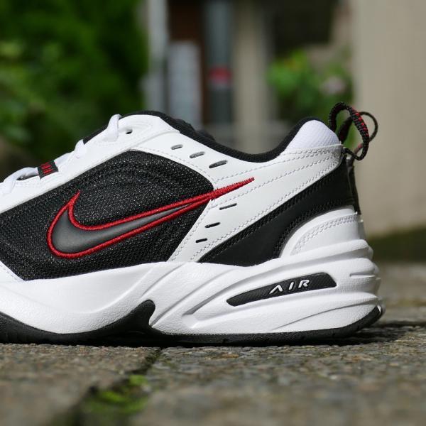 スニーカー ナイキ NIKE エアモナーク4 ホワイト/ブラック/バーシティレッド メンズ レディース シューズ 靴 18HO|mexico|06