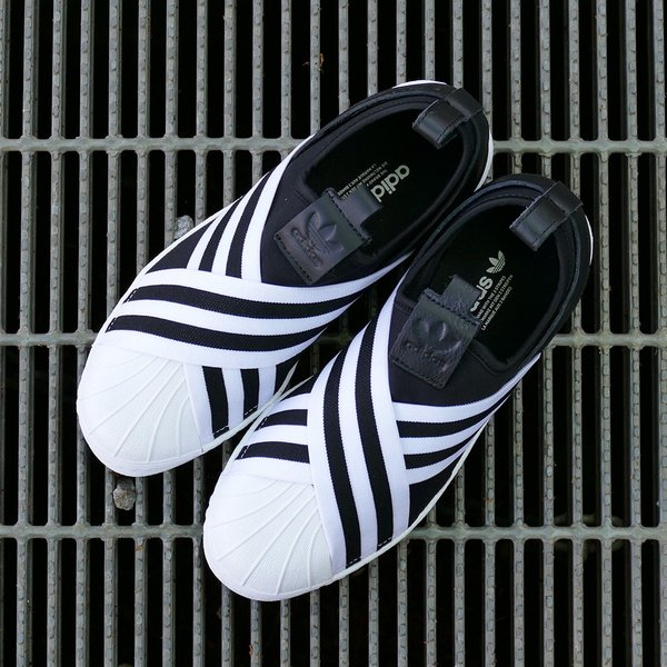 adidas Originals SUPERSTAR SLIPON W アディダス オリジナルス スーパースタースリッポンW コアブラック/コアブラック/ランニングホワイト mexico 04