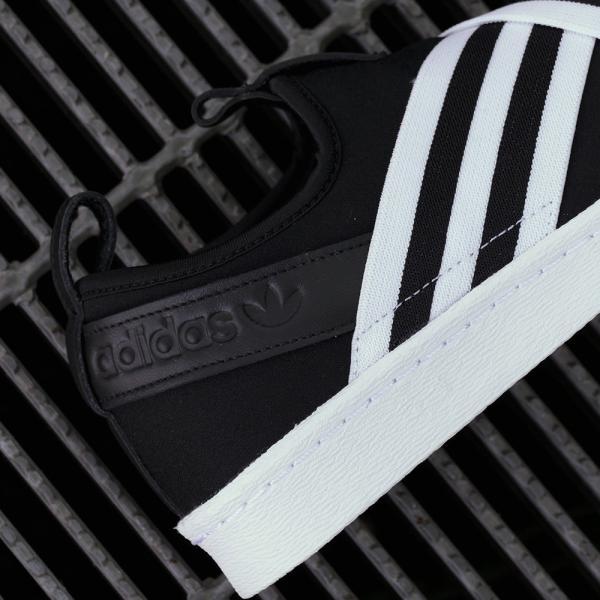 adidas Originals SUPERSTAR SLIPON W アディダス オリジナルス スーパースタースリッポンW コアブラック/コアブラック/ランニングホワイト mexico 05
