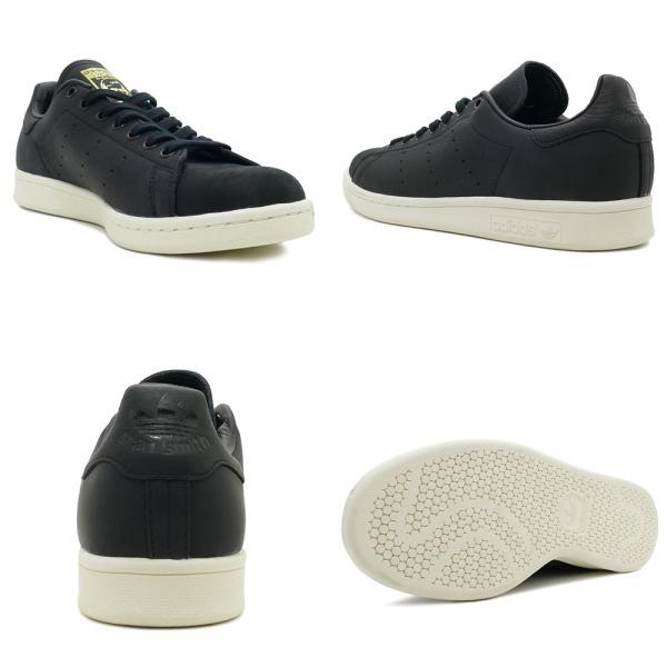 スニーカー アディダス adidas スタンスミスプレミアム ブラック/ホワイト メンズ レディース シューズ 靴 18FW|mexico|03