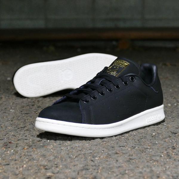 スニーカー アディダス adidas スタンスミスプレミアム ブラック/ホワイト メンズ レディース シューズ 靴 18FW|mexico|04