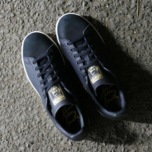 スニーカー アディダス adidas スタンスミスプレミアム ブラック/ホワイト メンズ レディース シューズ 靴 18FW|mexico|06