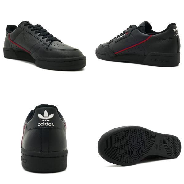 スニーカー アディダス adidas コンチネンタル80 ブラック/ホワイト メンズ レディース シューズ 靴 18FW|mexico|03