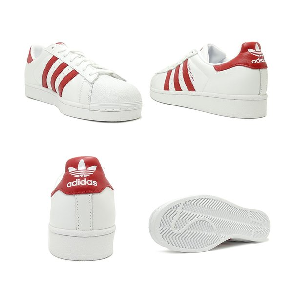 スニーカー アディダス adidas スーパースター ホワイト/レッド メンズ レディース シューズ 靴 19SS|mexico|03