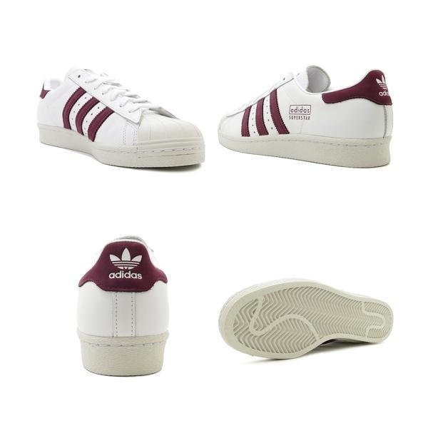 スニーカー アディダス adidas スーパースター80s ランニングホワイト/マルーン メンズ レディース シューズ 靴 19SS|mexico|03