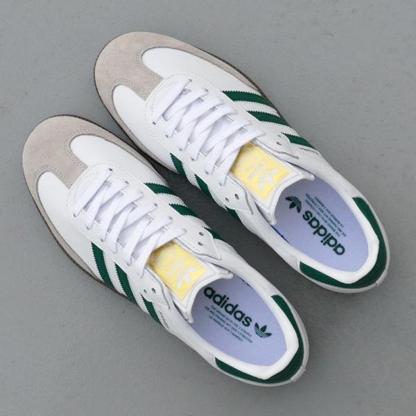 adidas Originals SAMBA OG 【アディダス オリジナルス サンバOG】 white/collegiate green/clear granite ホワイト/カレッジエイトグリーン/クリアグラナイト|mexico|06