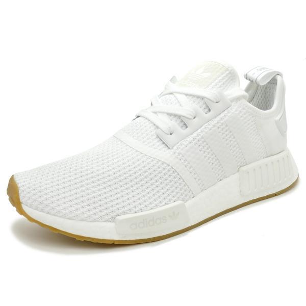 adidas Originals NMD R1 アディダス オリジナルス エヌエムディーR1 ftwr white/ftwr white/gum ランニングホワイト/ランニングホワイト/ガム D96635 18FW|mexico
