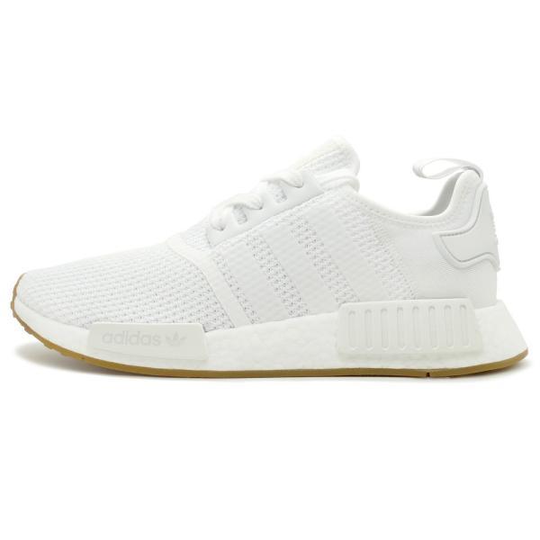 adidas Originals NMD R1 アディダス オリジナルス エヌエムディーR1 ftwr white/ftwr white/gum ランニングホワイト/ランニングホワイト/ガム D96635 18FW|mexico|02