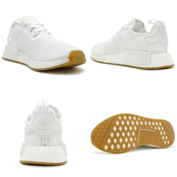 adidas Originals NMD R1 アディダス オリジナルス エヌエムディーR1 ftwr white/ftwr white/gum ランニングホワイト/ランニングホワイト/ガム D96635 18FW|mexico|03