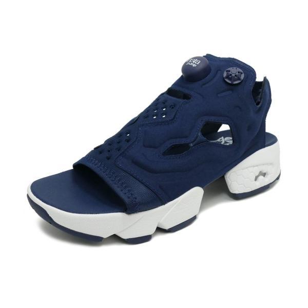 スニーカー リーボック REEBOK インスタポンプフューリーサンダル ネイビー/ホワイト メンズ レディース シューズ 靴|mexico
