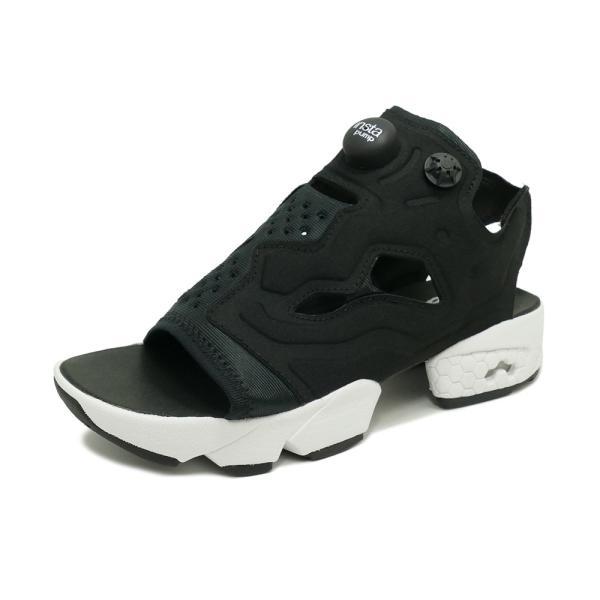 スニーカー リーボック REEBOK インスタポンプフューリーサンダル ブラック/ホワイト メンズ レディース シューズ 靴|mexico