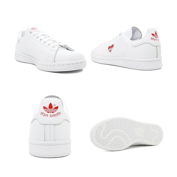 スニーカー アディダス adidas スタンスミスウィメンズ ホワイト/レッド レディース シューズ 靴 19SS|mexico|03