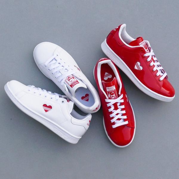 スニーカー アディダス adidas スタンスミスウィメンズ ホワイト/レッド レディース シューズ 靴 19SS|mexico|04
