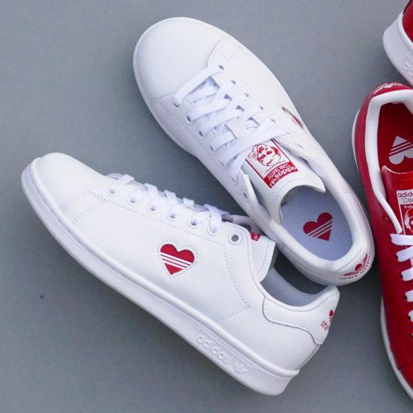 スニーカー アディダス adidas スタンスミスウィメンズ ホワイト/レッド レディース シューズ 靴 19SS|mexico|05