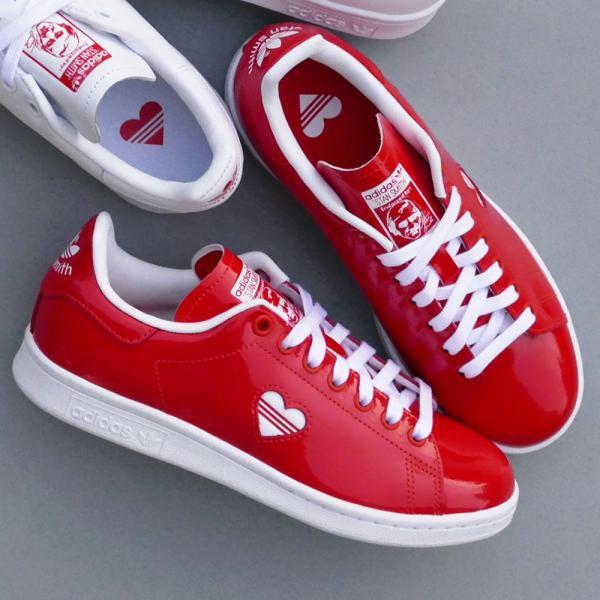 スニーカー アディダス adidas スタンスミスウィメンズ レッド/ホワイト レディース シューズ 靴 19SS|mexico|05