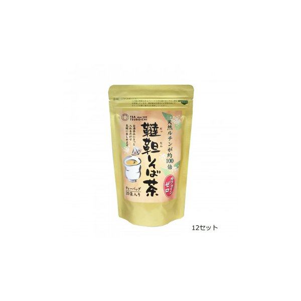 つぼ市製茶本舗 韃靼そば茶 ティーバッグ 60g(3g×20p) 12セット〔代引き不可〕〔同梱不可〕 トレード