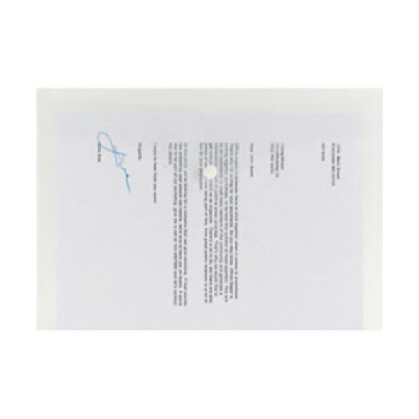 (まとめ)オフィスデポオリジナル 横型書類ケース A4 クリア 1パック(5枚)〔×20セット〕トップセラー