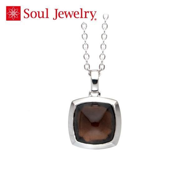 遺骨ペンダント Soul Jewelry スモーキークォーツ ピラミッド Pt900 プラチナ (予定納期約4週間・代引のご注文は不可) (2209001836)