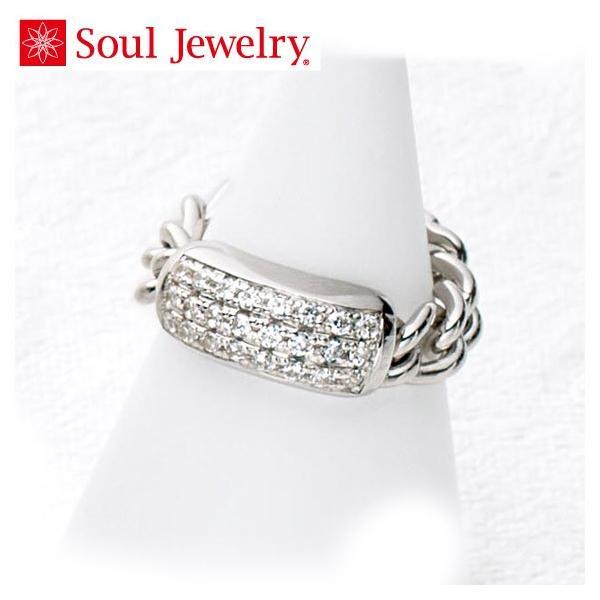 遺骨アクセサリー Soul Jewelry チェーンリング パヴェ 遺骨を納めて身につけられる指輪 (2209002469)[チェーンリング パヴェ]  シルバー925