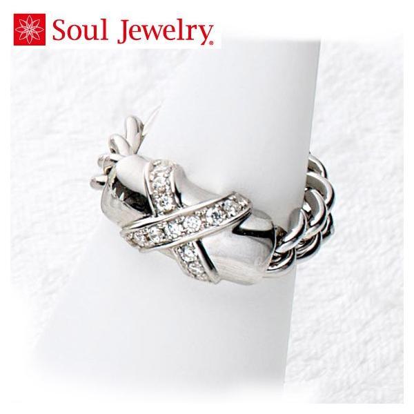 遺骨アクセサリー Soul Jewelry チェーンリング クロス 遺骨を納めて身につけられる指輪 (2209002472)[チェーンリング クロス]  シルバー925