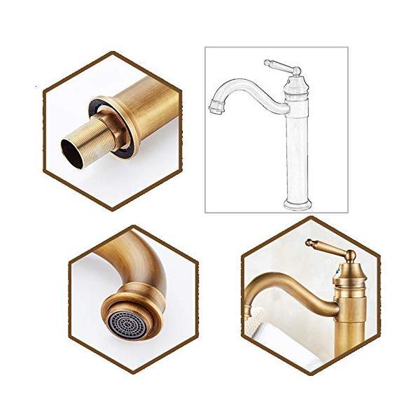 Sccot(スクット)洗面用蛇口 アンティーク シングルレバー混合水栓 ロング水栓 手洗いボウル 360度回転|mgshop0401|03