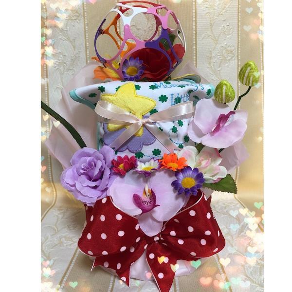 出産祝い♪残8個!カーターズスタイ&ワミーボールおむつケーキ(オムツケーキ)女の子♪ピンク☆Sテープ☆送料無料|mi-mama-yuu