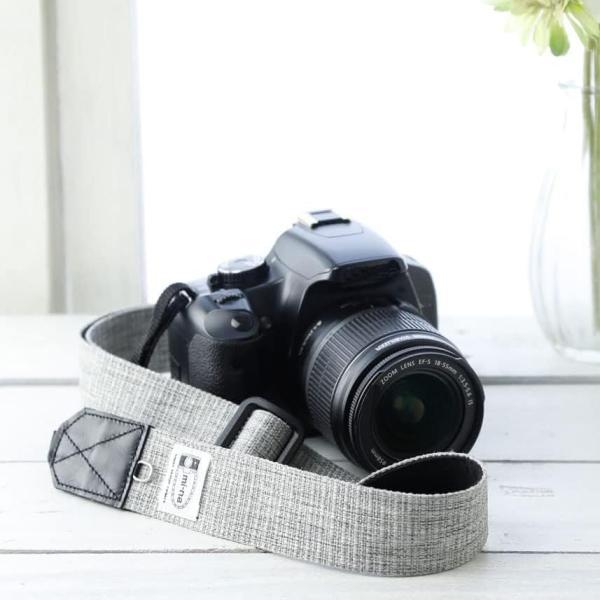 カメラストラップ camera strap 一眼レフ ミラーレス一眼用 プロテジェ グレーミックス 撥水加工 3.5cm幅フリータイプ