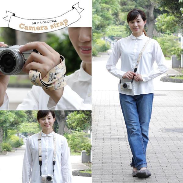 カメラストラップ camera strap 一眼レフ ミラーレス一眼用 コミカルドギー フリータイプ