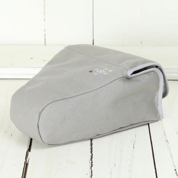 カメラケース camera case 一眼レフ用 「カメラのお洋服 ワイド」 ライトグレー 帆布 needlework(刺繍)シリーズ