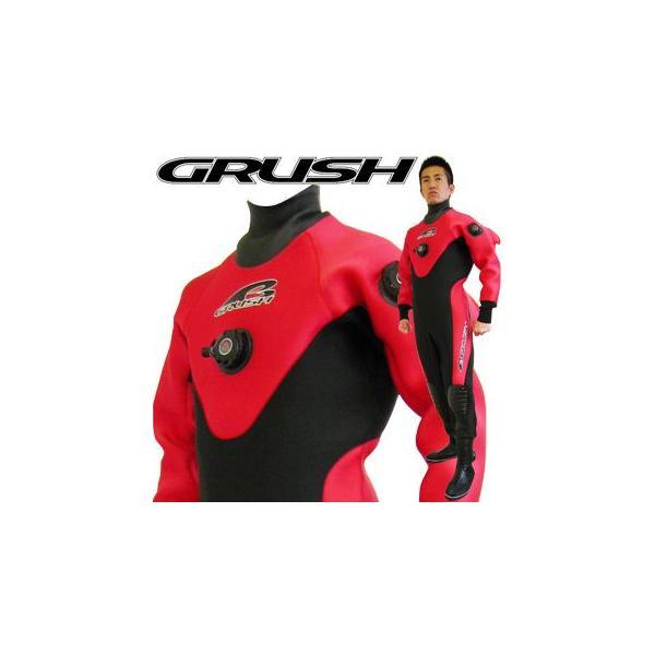 GRUSHドライスーツ メンズ DRY SUITS (RED) ダ...
