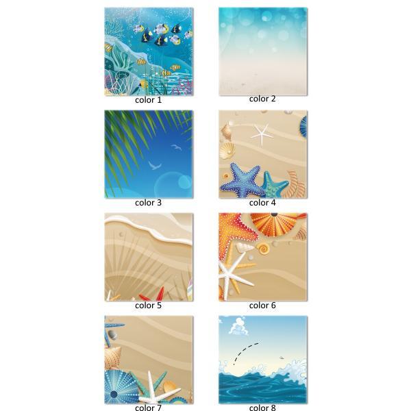 ファブリックパネル Lサイズ 60cm × 60cm 北欧 海 ヤシの木 バカンス 南国  ハワイアンデザイン サーファー 渦巻き 鳴門海峡 津波 波|mic319|02