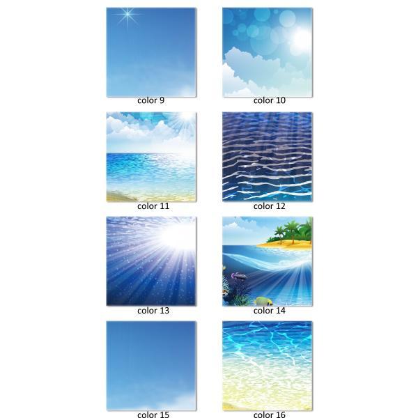 ファブリックパネル Lサイズ 60cm × 60cm 北欧 海 ヤシの木 バカンス 南国  ハワイアンデザイン サーファー 渦巻き 鳴門海峡 津波 波|mic319|03