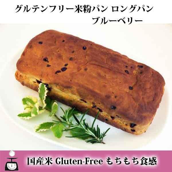 グルテンフリー 米粉パン ロングパン(ブルーベリー)|micco