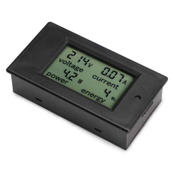 電力チェッカー DROK AC デジタル LCD 80-260V 100A マルチメーター 電圧 アンペア数 電力 エネルギー メーター ブ