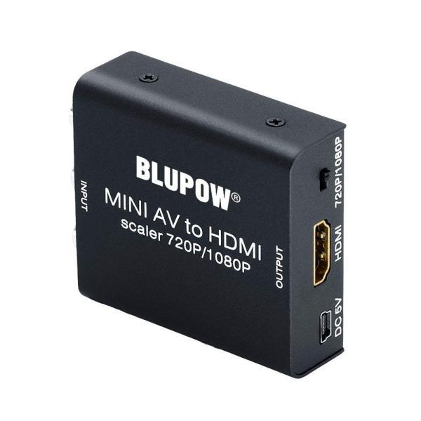 BLUPOW コンポジット HDMI 変換 720P/1080P対応 rca hdmi 変換 av hdmi変換 コンポジット hdmi コ micomema 02