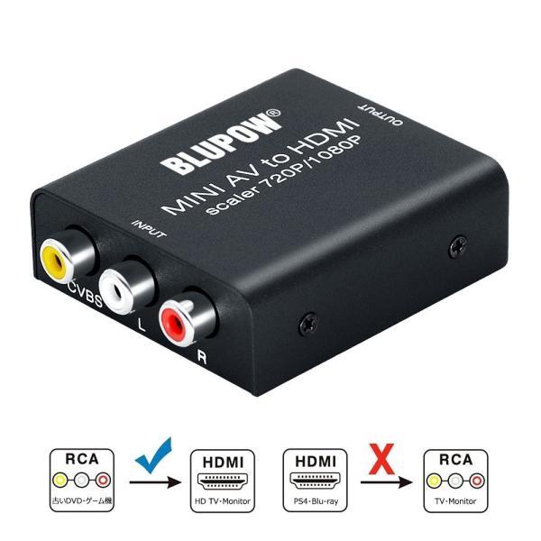 BLUPOW コンポジット HDMI 変換 720P/1080P対応 rca hdmi 変換 av hdmi変換 コンポジット hdmi コ micomema 06