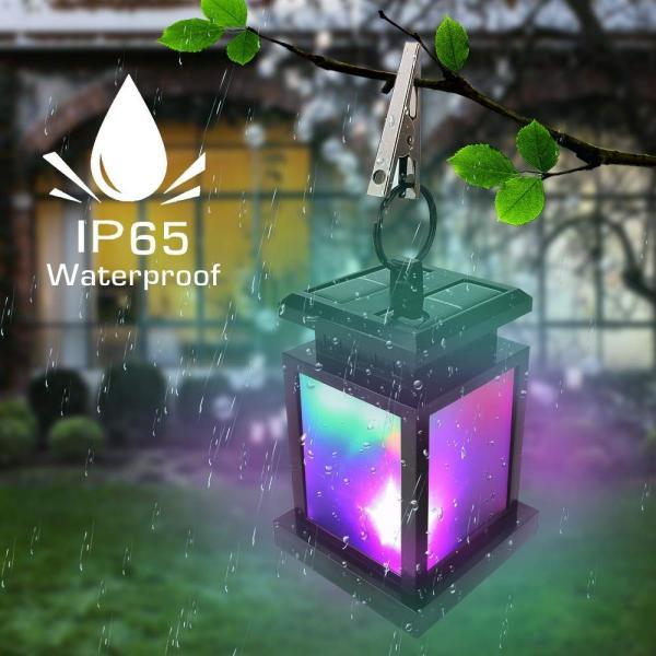 Derlights ソーラーライト RGB LEDライト カラフル きらきら 太陽能充電 屋外ライト ランタン型 多色変化 イルミネーション|micomema