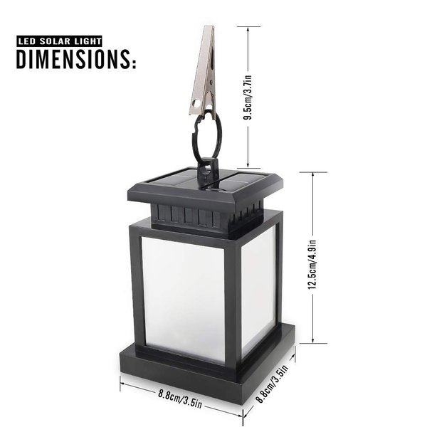 Derlights ソーラーライト RGB LEDライト カラフル きらきら 太陽能充電 屋外ライト ランタン型 多色変化 イルミネーション|micomema|03