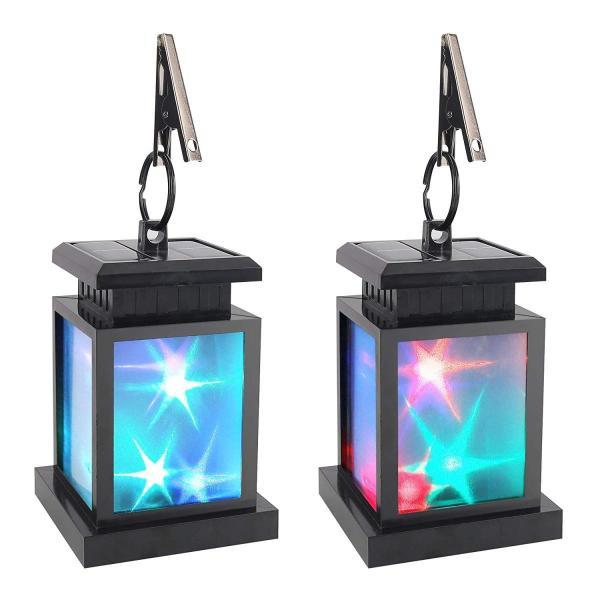 Derlights ソーラーライト RGB LEDライト カラフル きらきら 太陽能充電 屋外ライト ランタン型 多色変化 イルミネーション|micomema|04