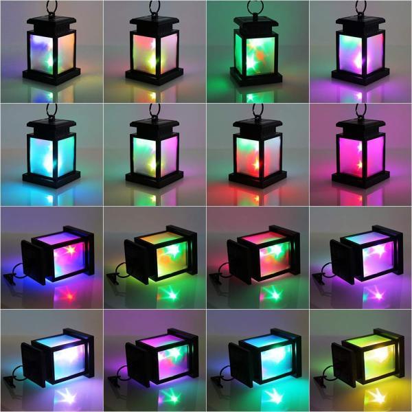 Derlights ソーラーライト RGB LEDライト カラフル きらきら 太陽能充電 屋外ライト ランタン型 多色変化 イルミネーション|micomema|07