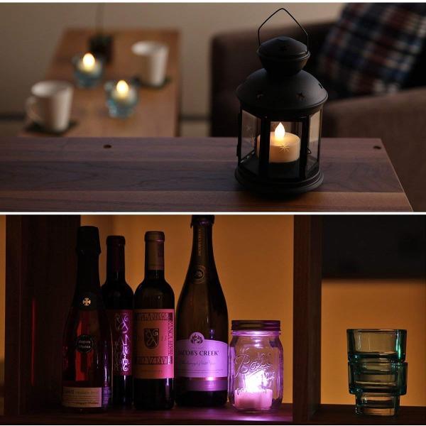 WY 12色LEDティーライトキャンドル[3個セット]リモコン付 4h/8hタイマー機能 照明モード切替 WY-LEDSET004-3 micomema