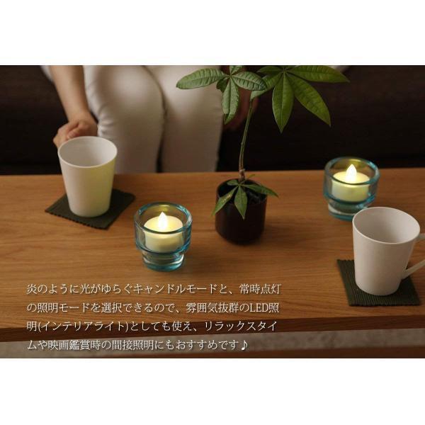 WY 12色LEDティーライトキャンドル[3個セット]リモコン付 4h/8hタイマー機能 照明モード切替 WY-LEDSET004-3 micomema 08